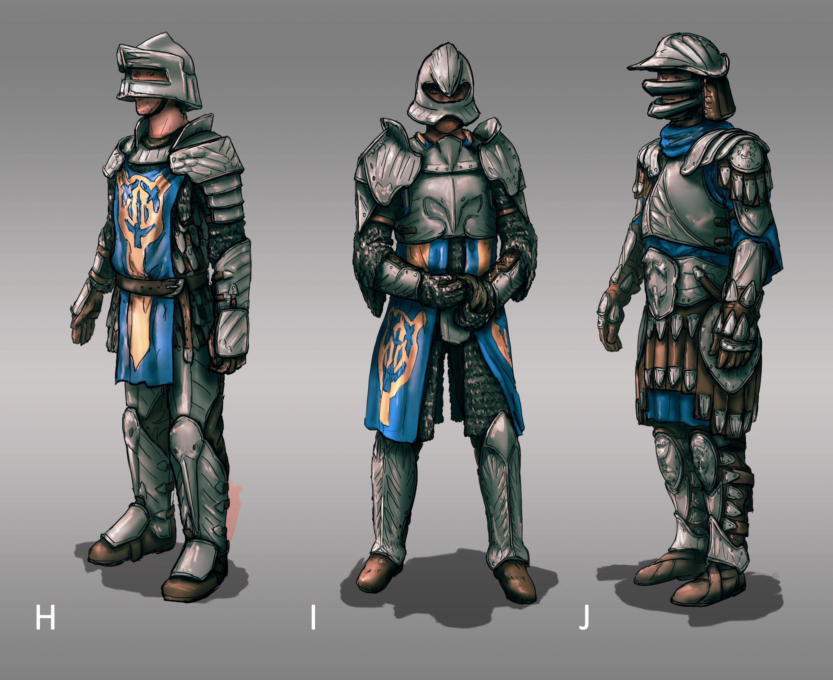 The Siege: Soldier Armor Designs 01 (180min)  // Fantasy / Medieval / Props / Design