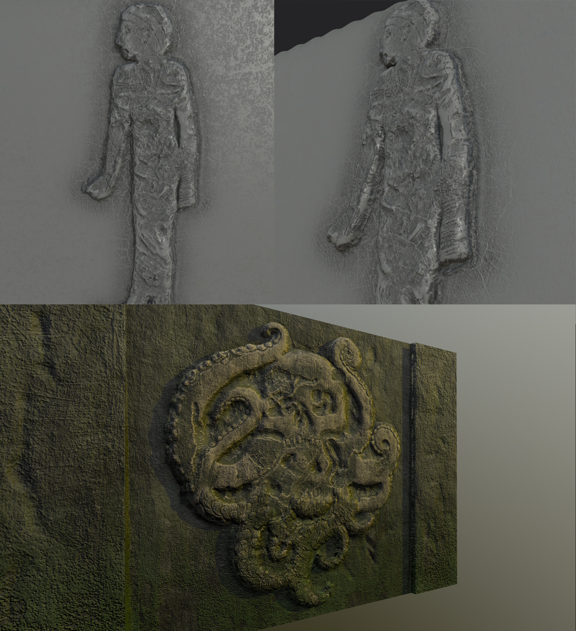One of my first sculpts for the temple walls.