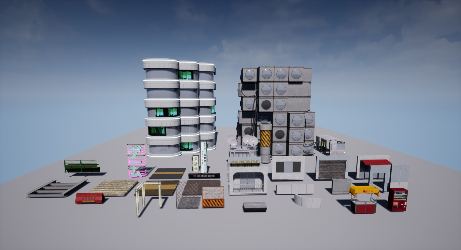 Layout of some of the modular assets (there were 111 of them...)
