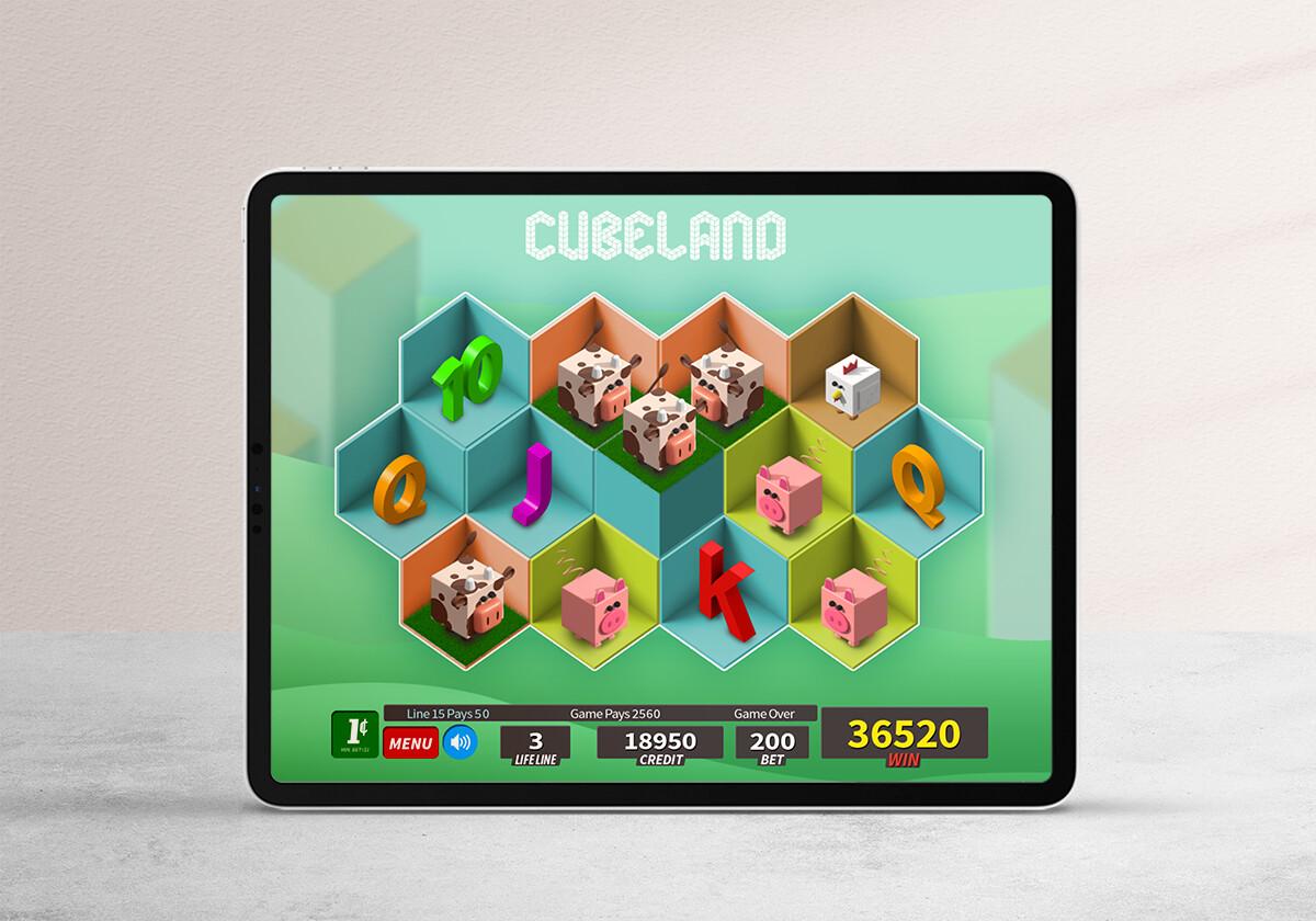 Cubeland | Land Based and digital slot design exploration