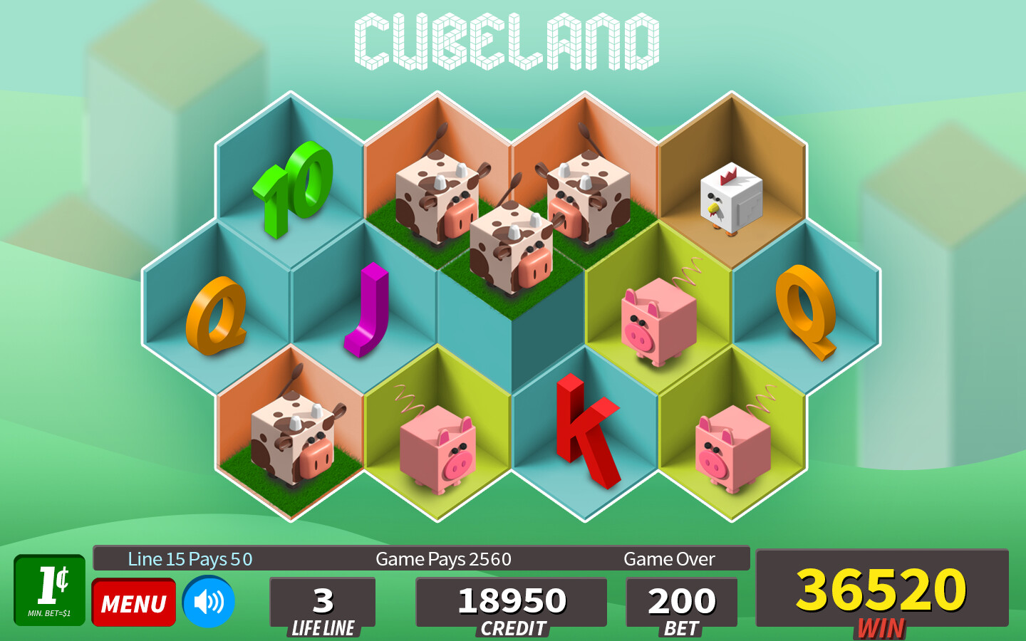 Cubeland | Land Based and digital slot design exploration