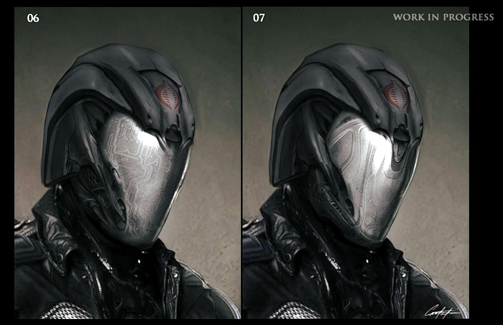 Cobra Commander Helmet Concept explorations