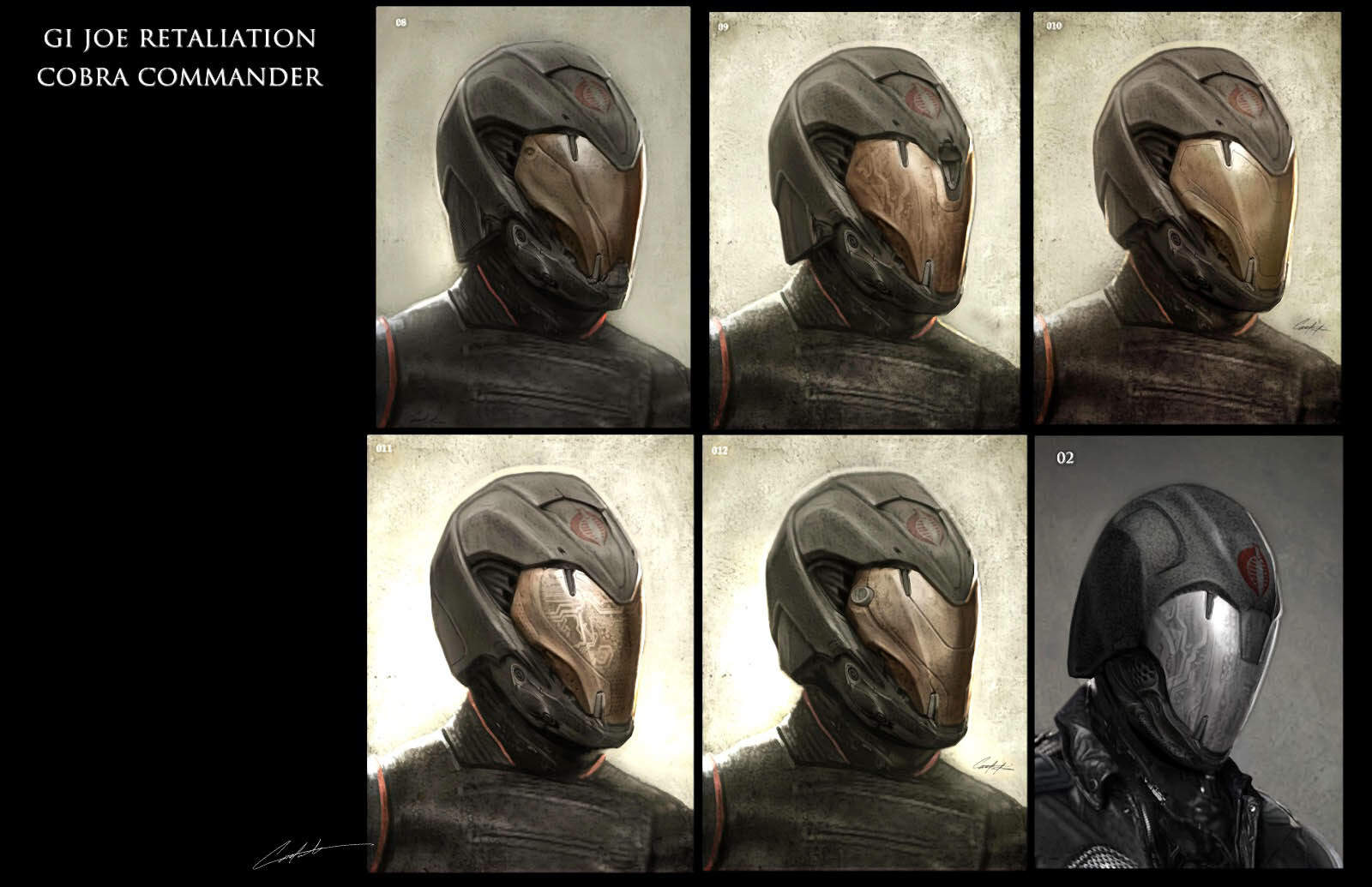 Cobra Commander Helmet Concepts exploration