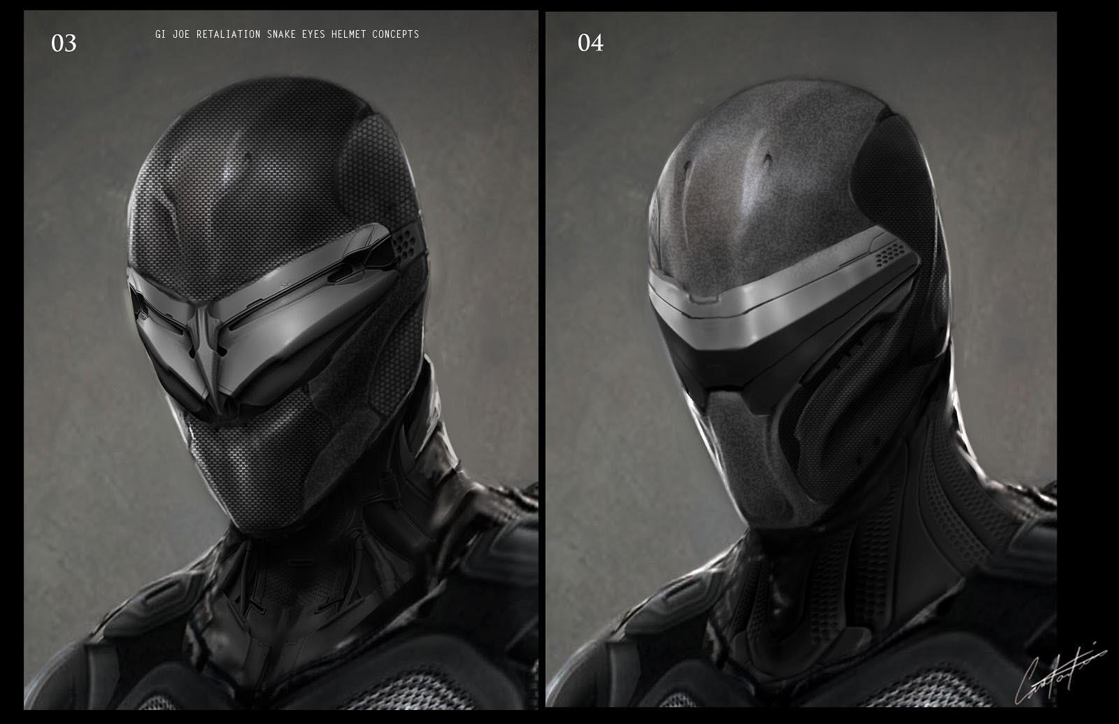 Snake Eyes Exploration Helmet Concepts