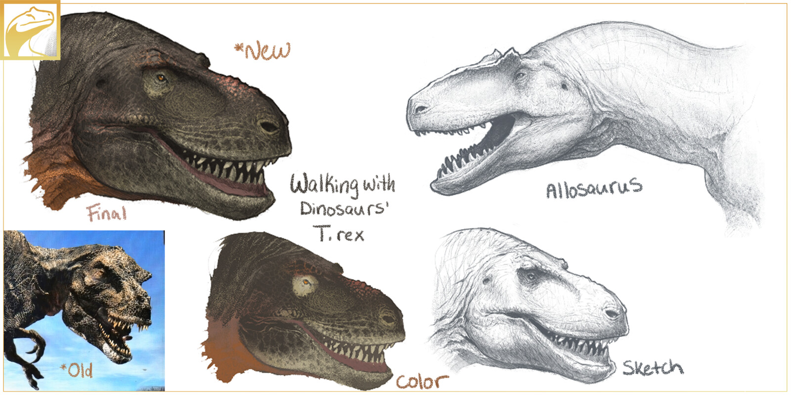 Allosaurus & Tyrannosaurus from 'Walking with Dinosaurs' re-envisioned