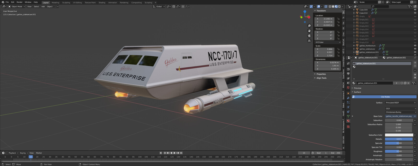 TOS Shuttle WIP