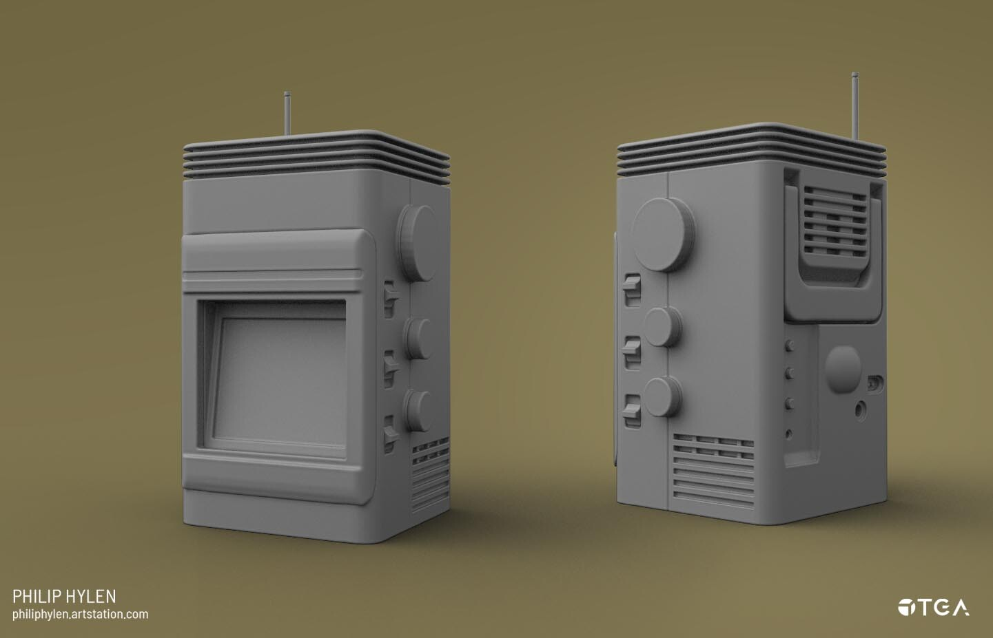 A render of the highpoly.