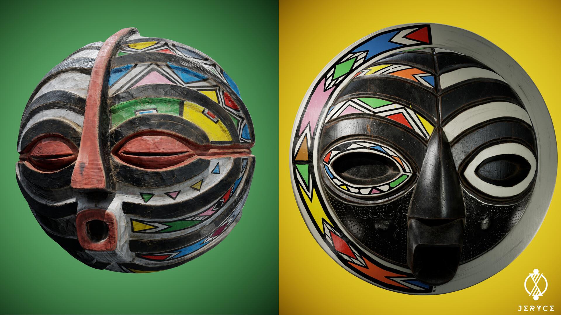 Kifwebe and Ashanti Mask