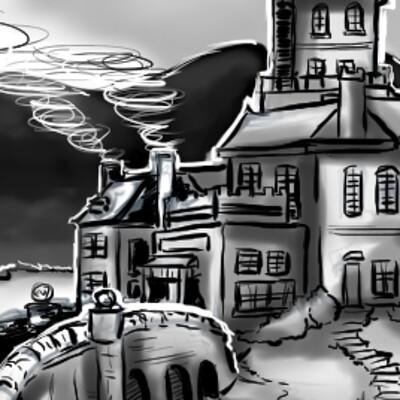 Detonya kan castle sketch 1