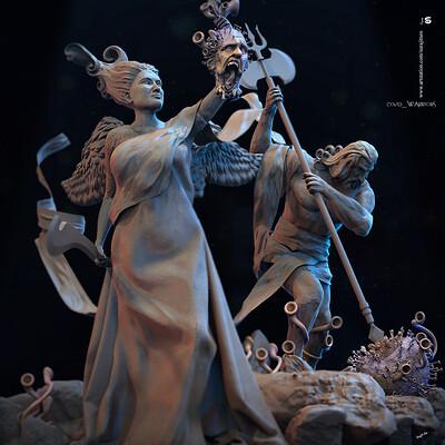 Surajit sen covid warriors digital sculptures surajitsen april2020 s1a
