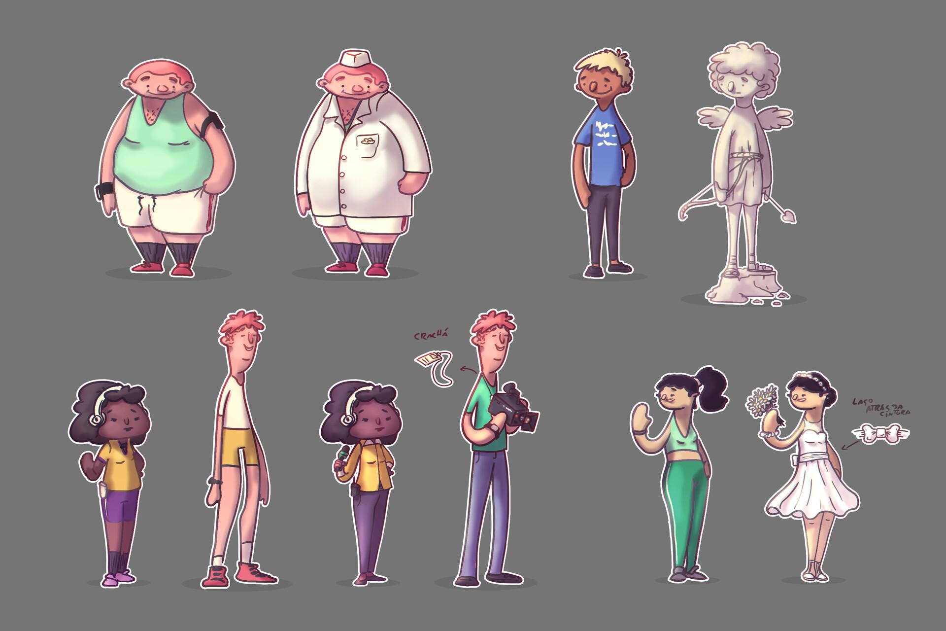 Character original and runner
