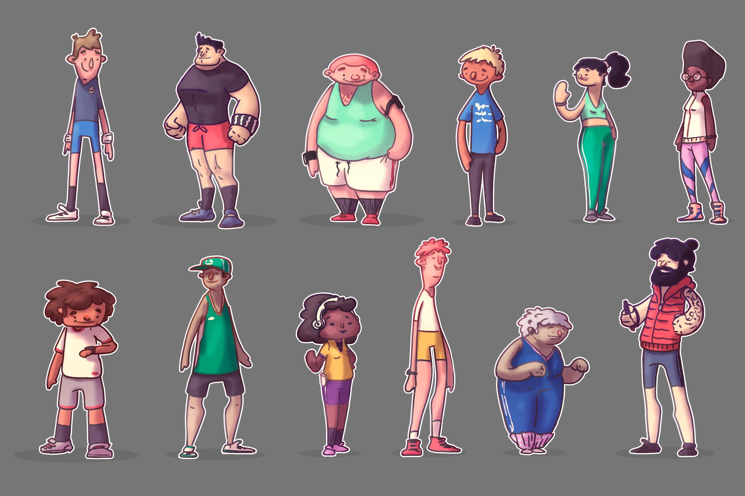 Character Design - running clothes