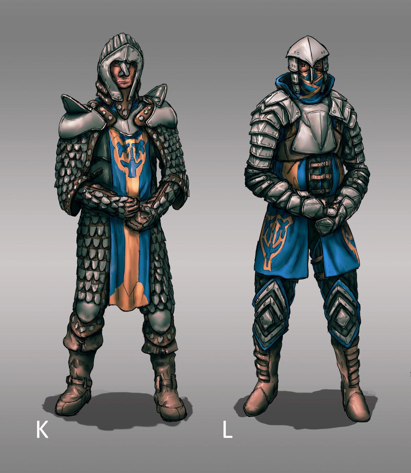 The Siege: Knight Armor Designs 02 (120min)  // Fantasy / Medieval / Props / Design