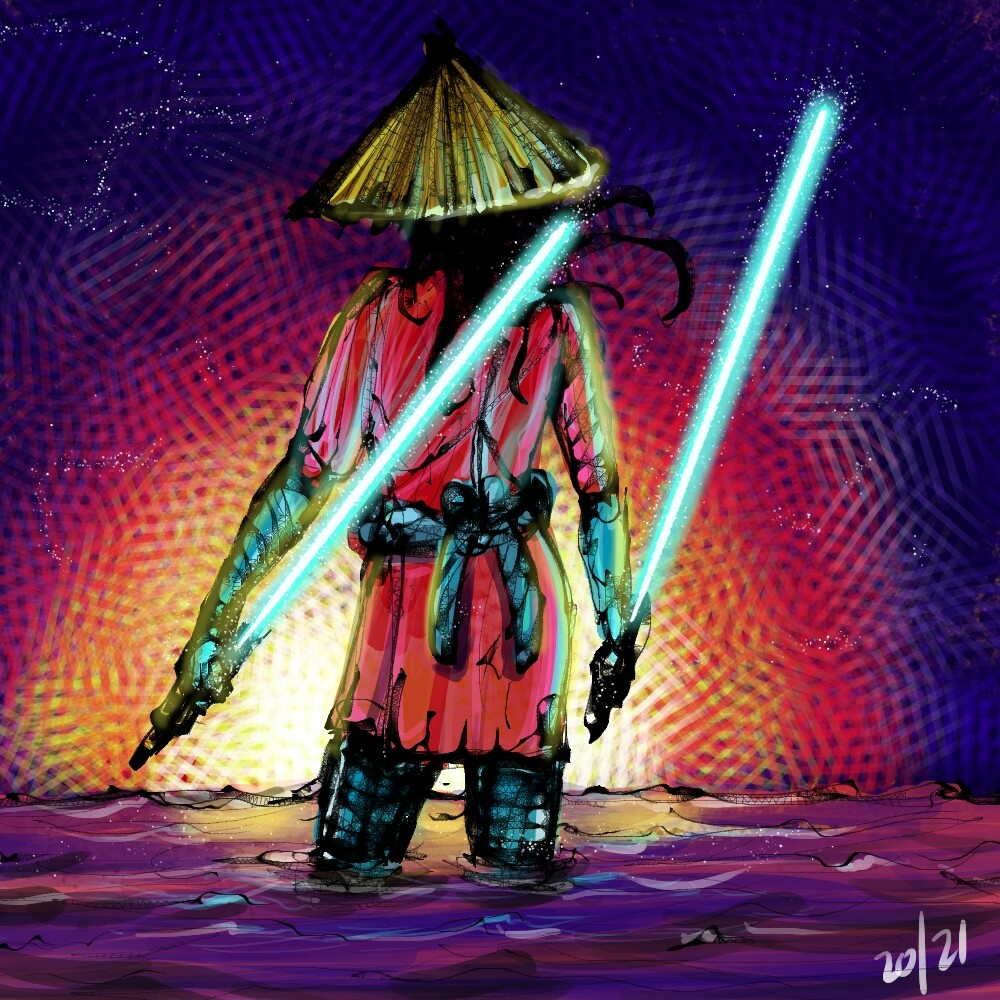 Day 20. Idea for samurai jedi but came out more shinobi or ronin. An idea id like to return to at some point.