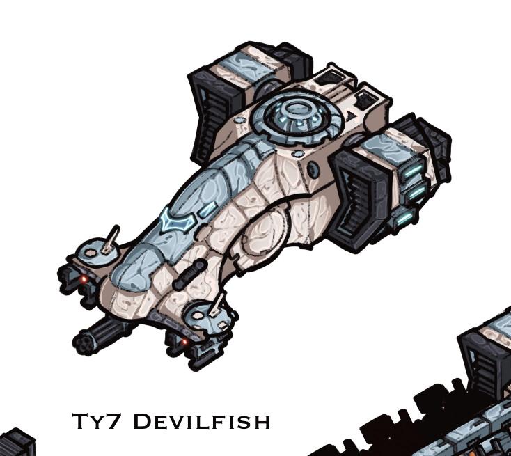 Ty7 Devilfish - troop transport untouched design