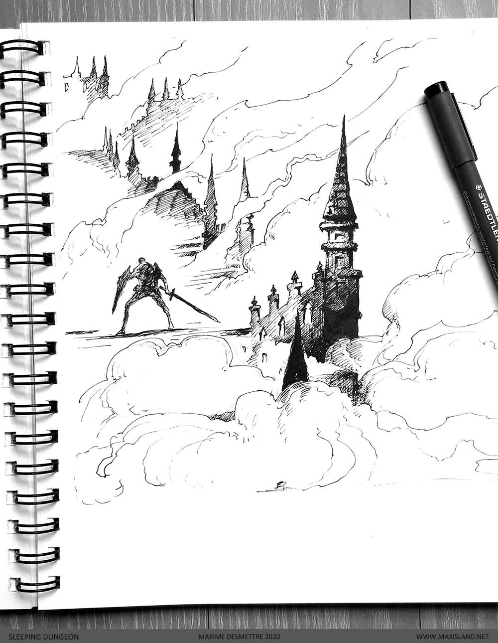 Preparation Sketch - Ink on Paper