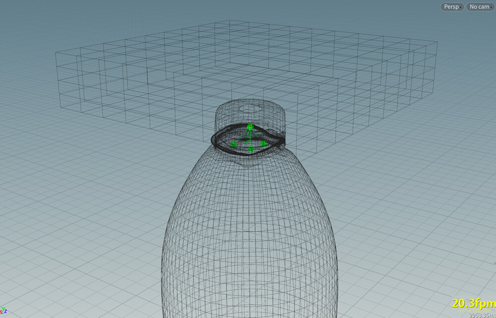 The cap is attached to the top of the bottle so that it can fly away when the bottle is crushed.