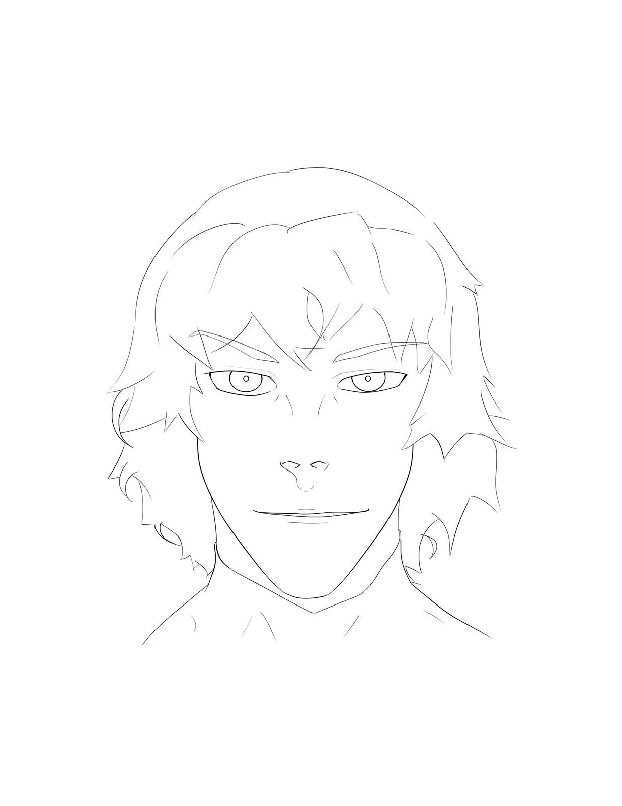 Eon's Line Art Portrait