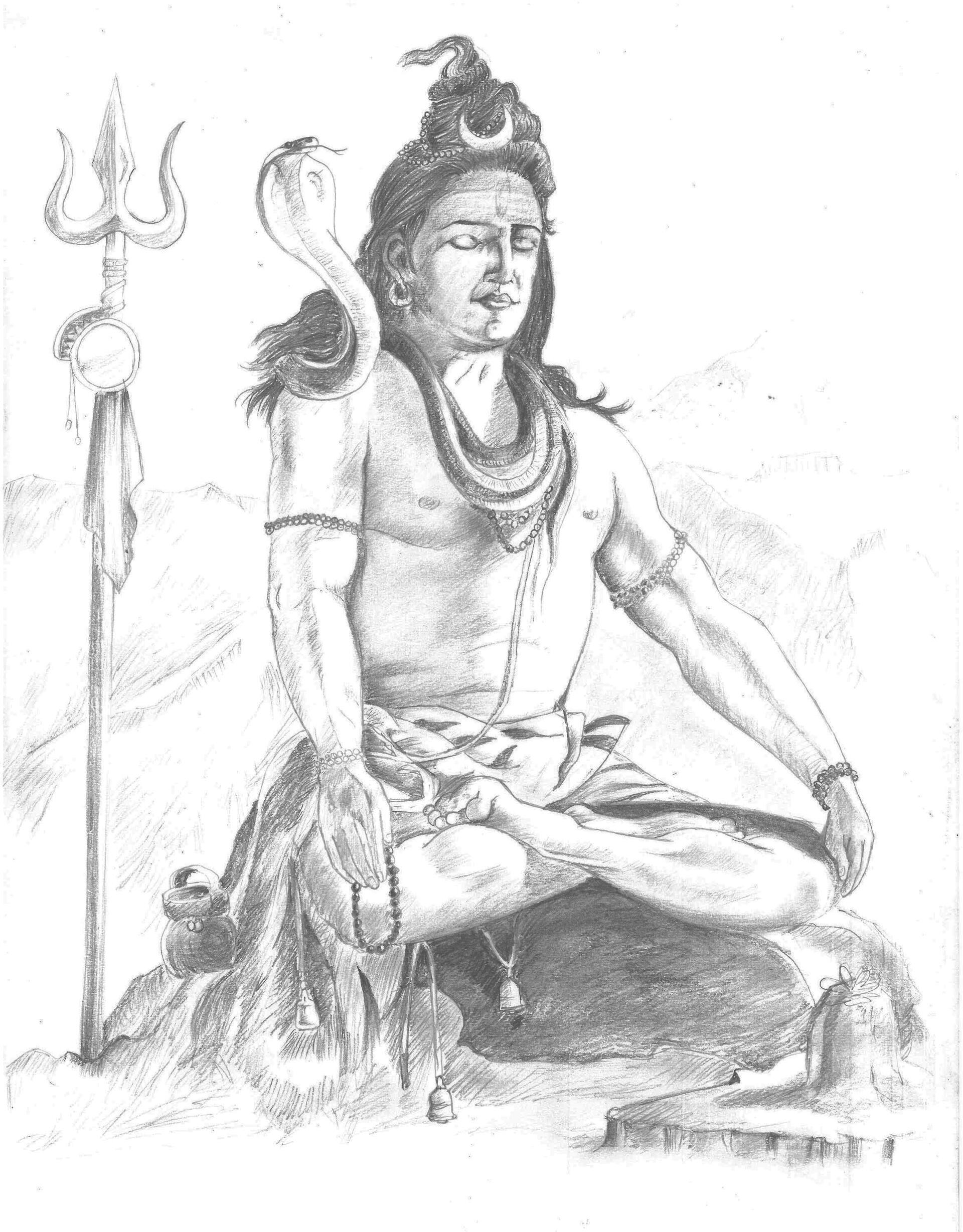 Artstation Lord Shiva The Great Yogi Utkarsh Agnihotri