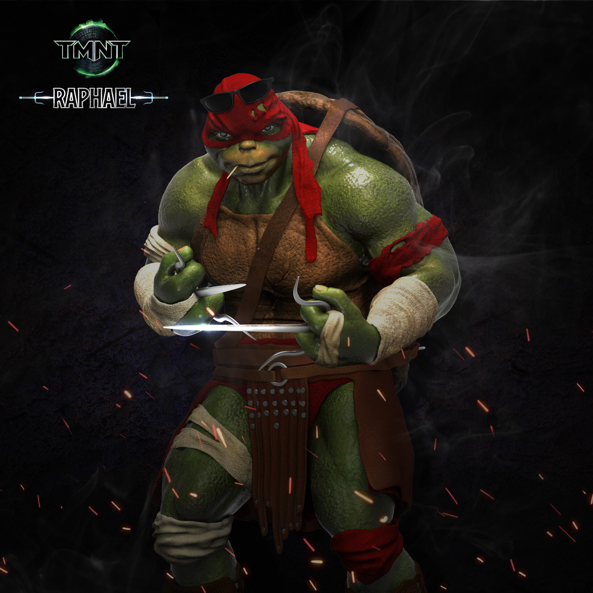 Artstation Teenage Mutant Ninja Turtle Raphael Fan Art Cletus