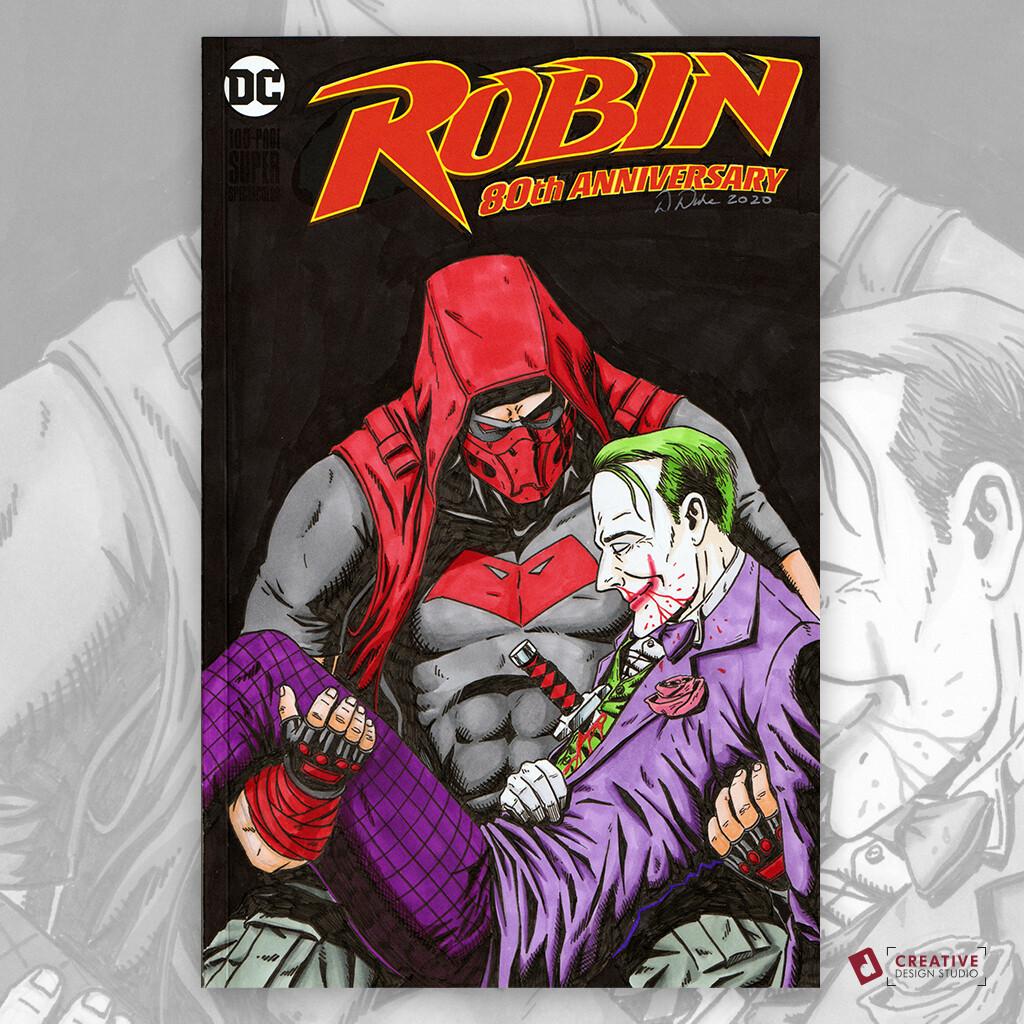 Artstation Red Hood Jason Todd Joker Original Art Sketch Cover David Duke