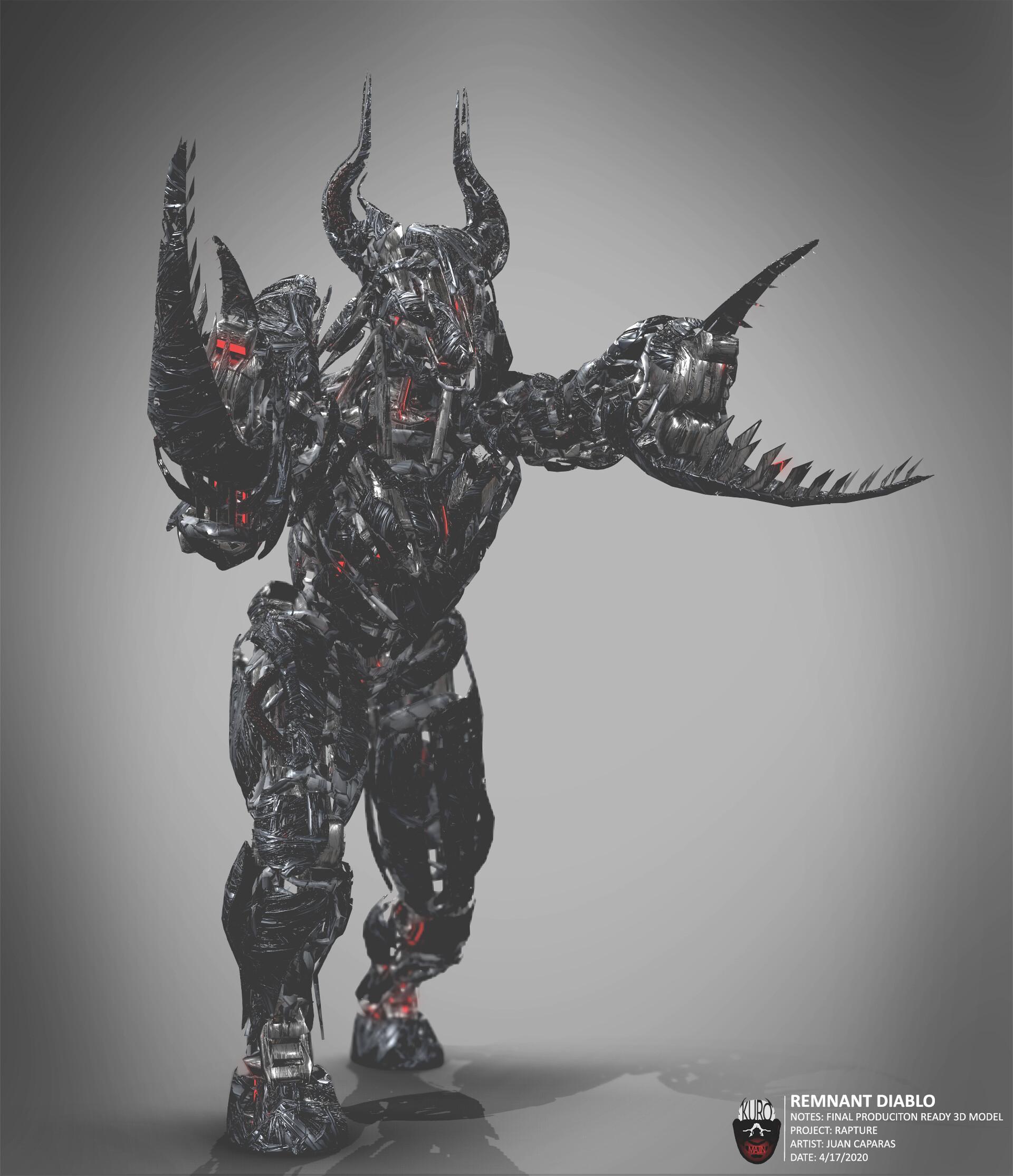 Remnant Diablo 3D Model   Kuro Majin Productions
