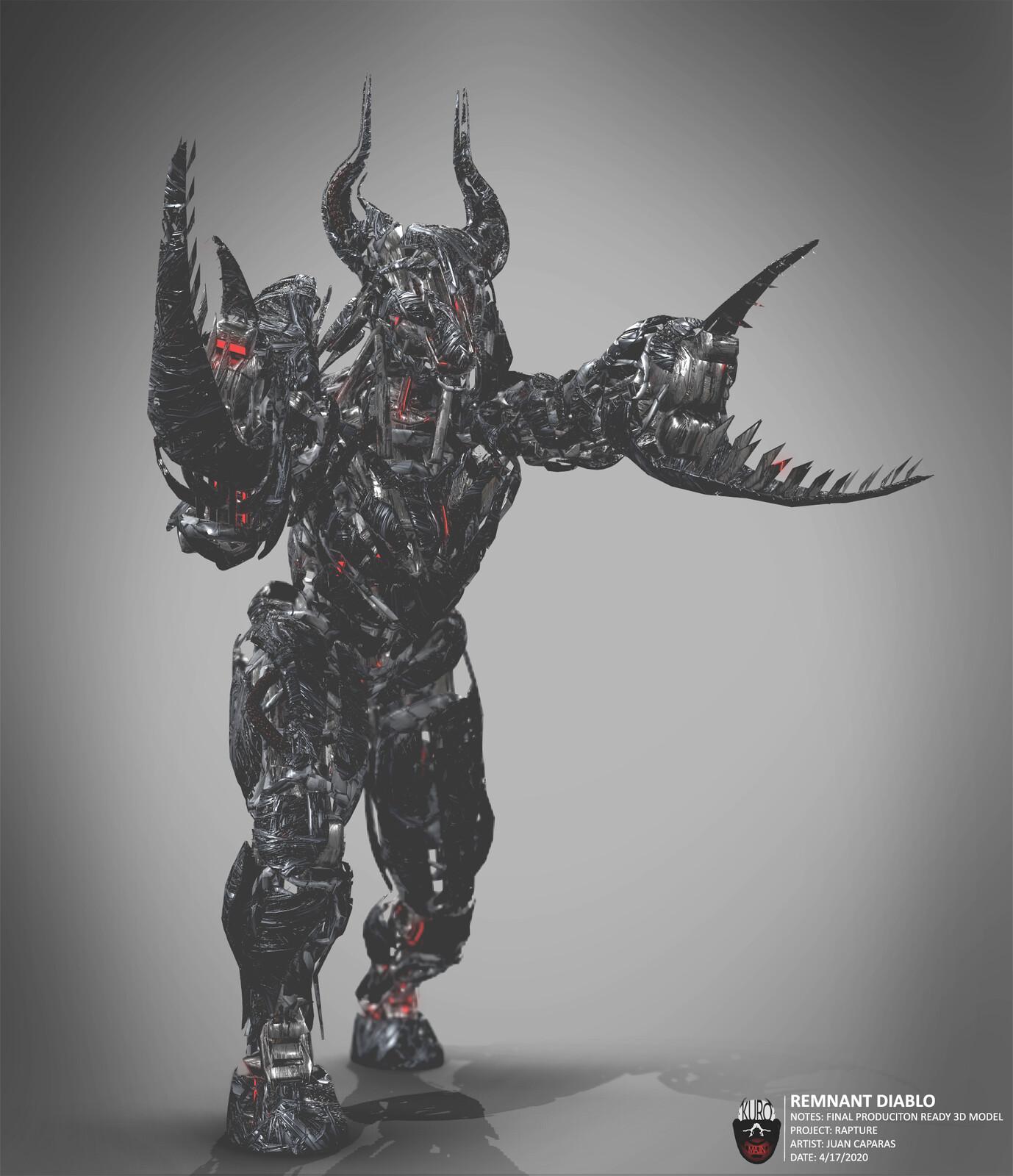 Remnant Diablo 3D Model | Kuro Majin Productions