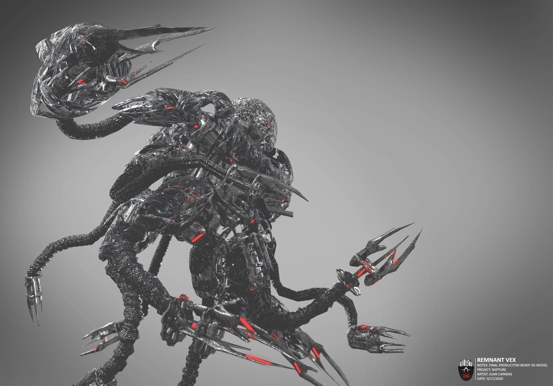 Remnant Vex 3D Model   Kuro Majin Productions