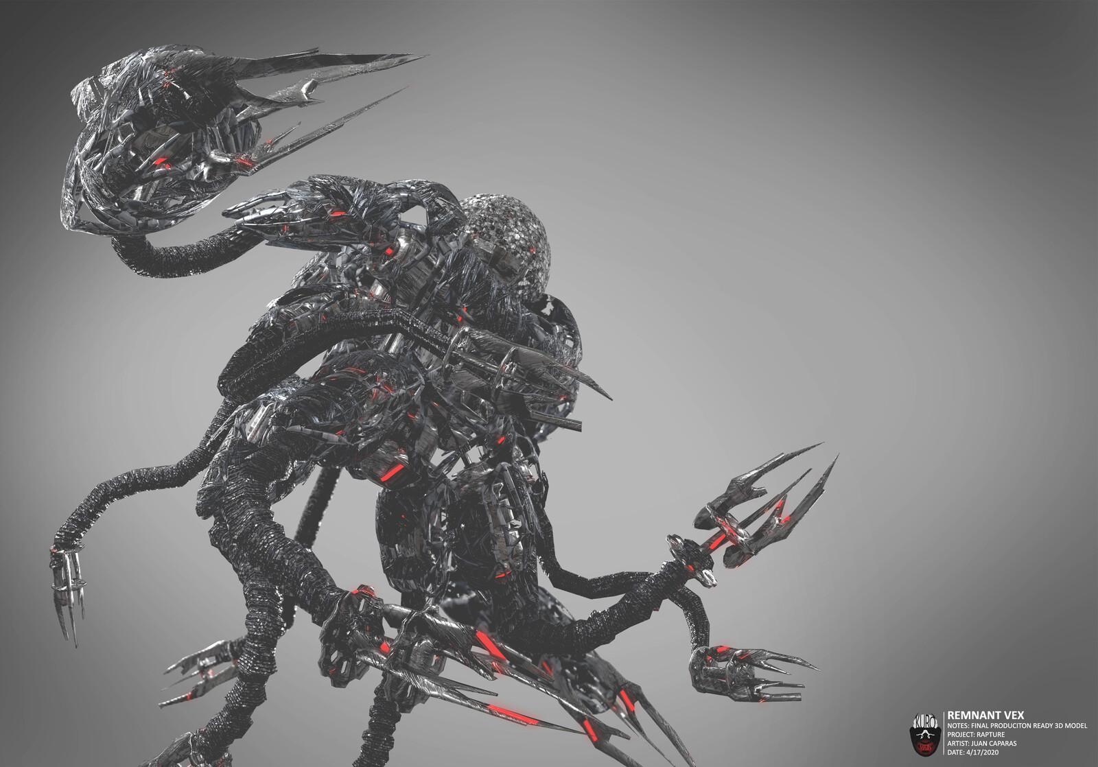 Remnant Vex 3D Model | Kuro Majin Productions