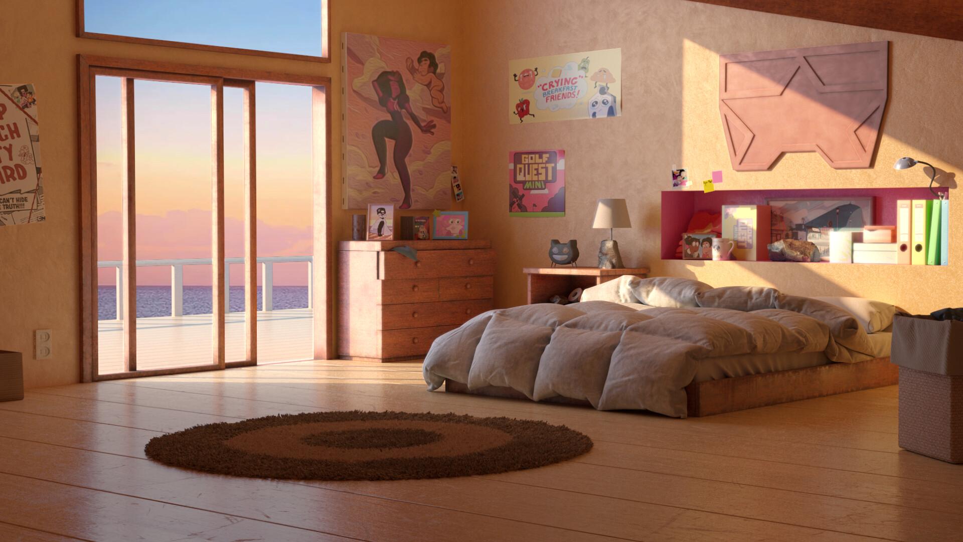 Adrien Brooks Steven Universe Future Bedroom