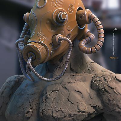 Surajit sen masky2 0 digital sculpture surajitsen april2020ss