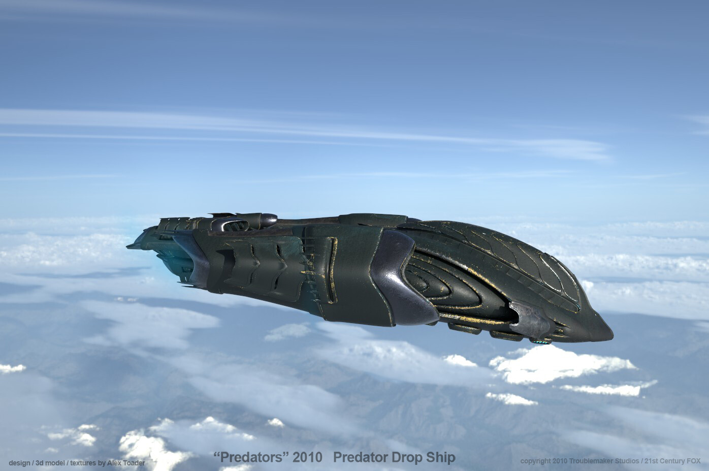 Predator DropShip over Sierras v2