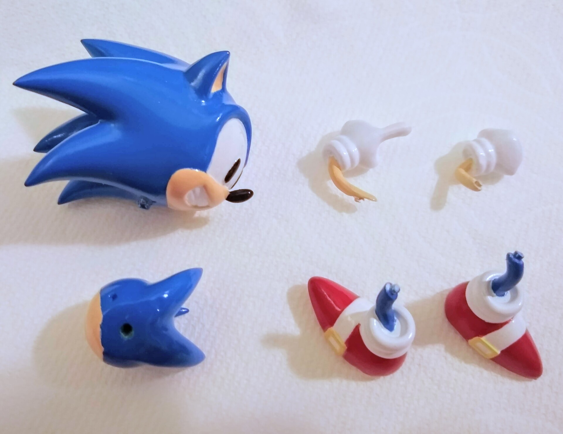 hand painted parts (acrylic)