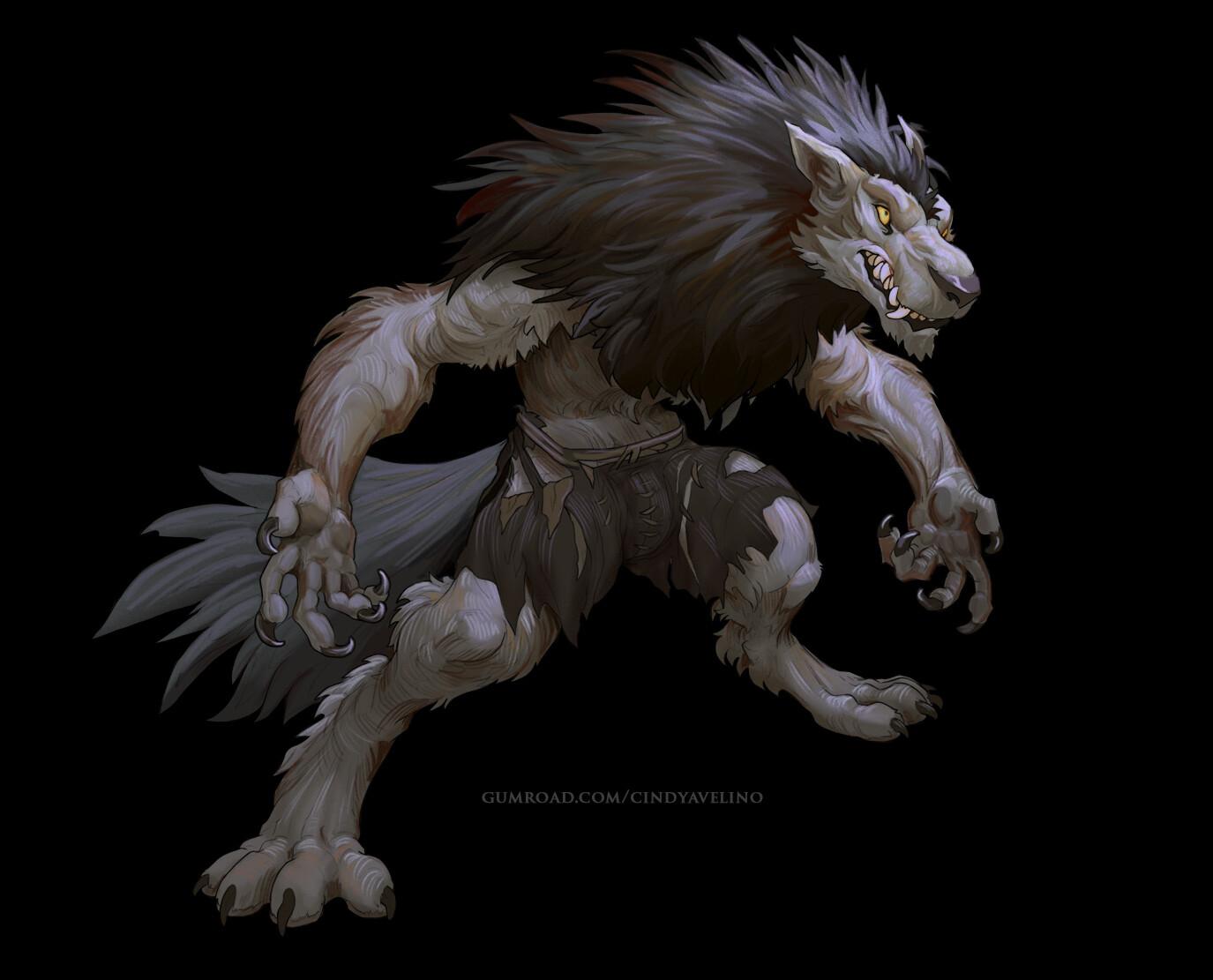 werewolf and gnoll