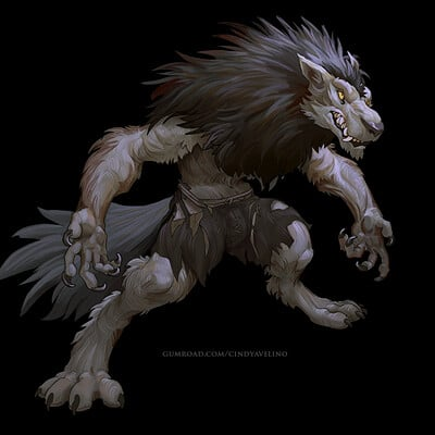 werewolf and gnoll