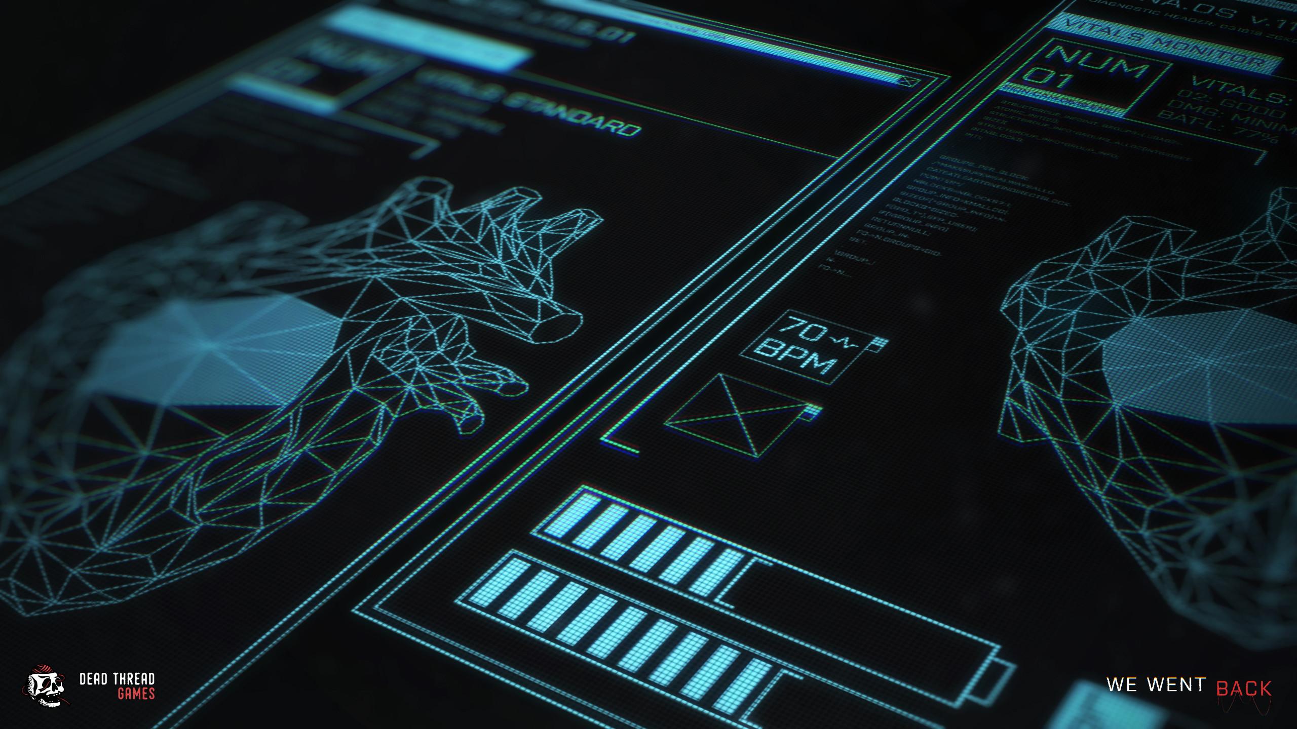 FUI Cryo chamber vitals screen.