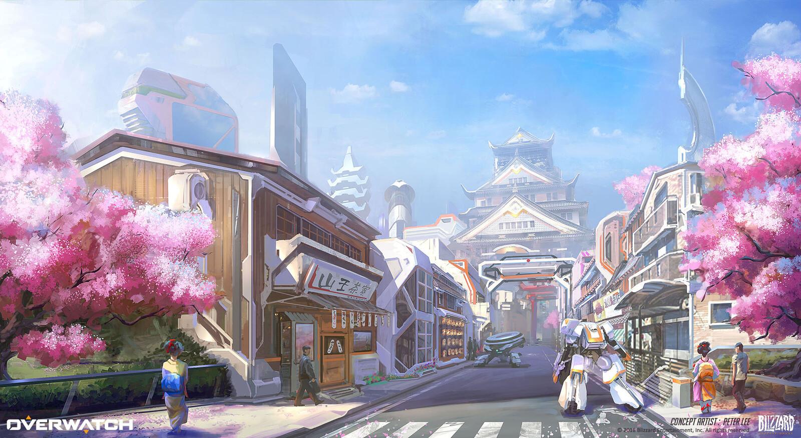 Artstation Overwatch Hanamura Concept Peter Lee