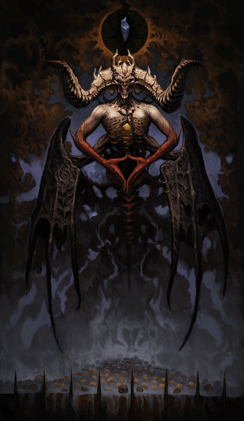 ArtStation - Mephisto, The Lord of Hatred (Diablo fan art), Rai Wald