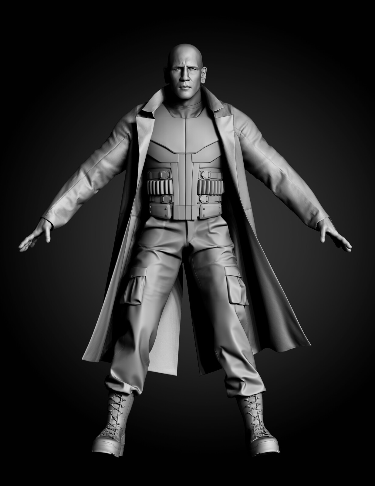Full body of the high res Sculpt