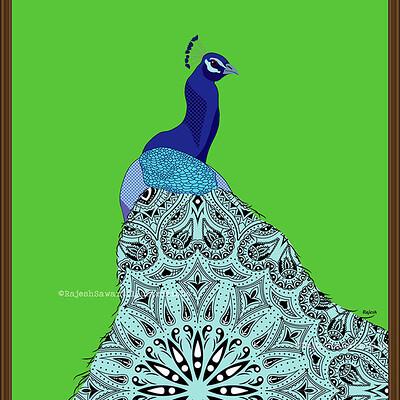 Rajesh r sawant peacock mandala art 01