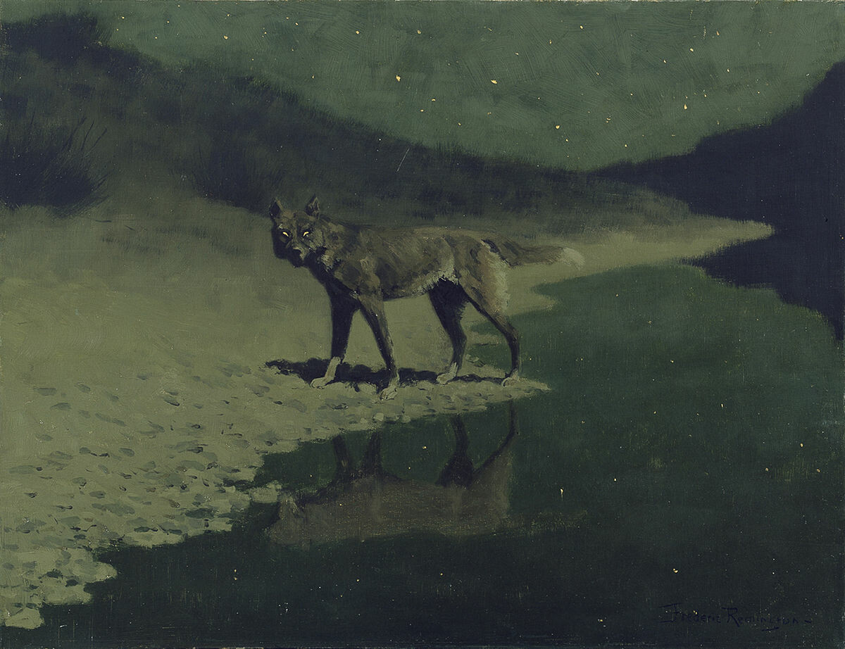 "Frederic Remington, ""Moonlight Wolf"""