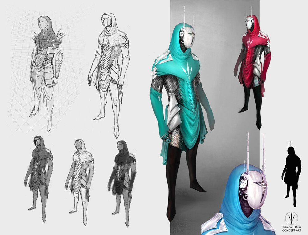 A little piece of character concept art from sketch to colour exploration, made during the very little spare time I have :)