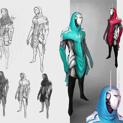 Tiziana federica ruiu character concept art tiziana ruiu