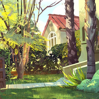 Mike mccain front yard plein air