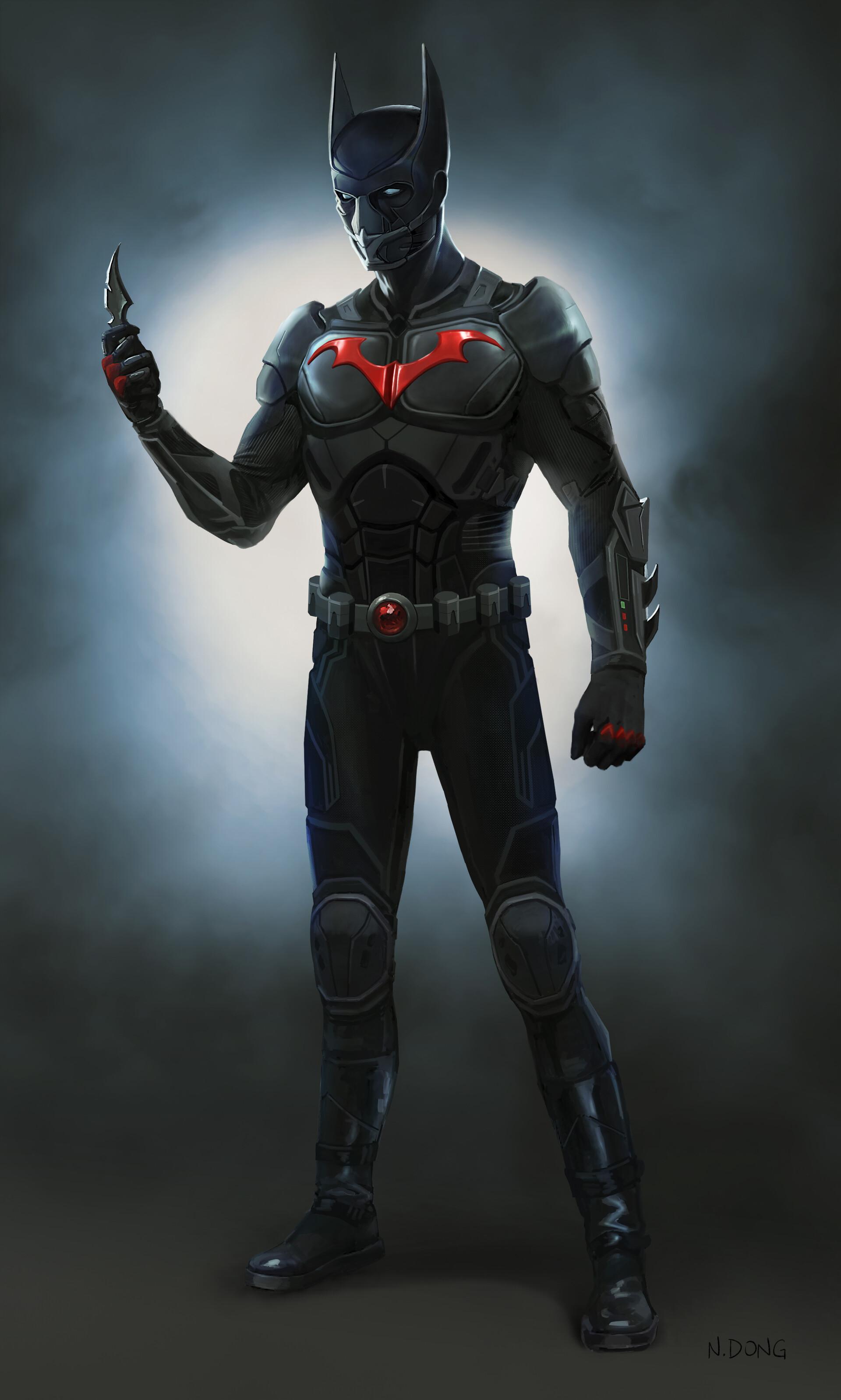 Batman Beyond character design for live action motion pictures.