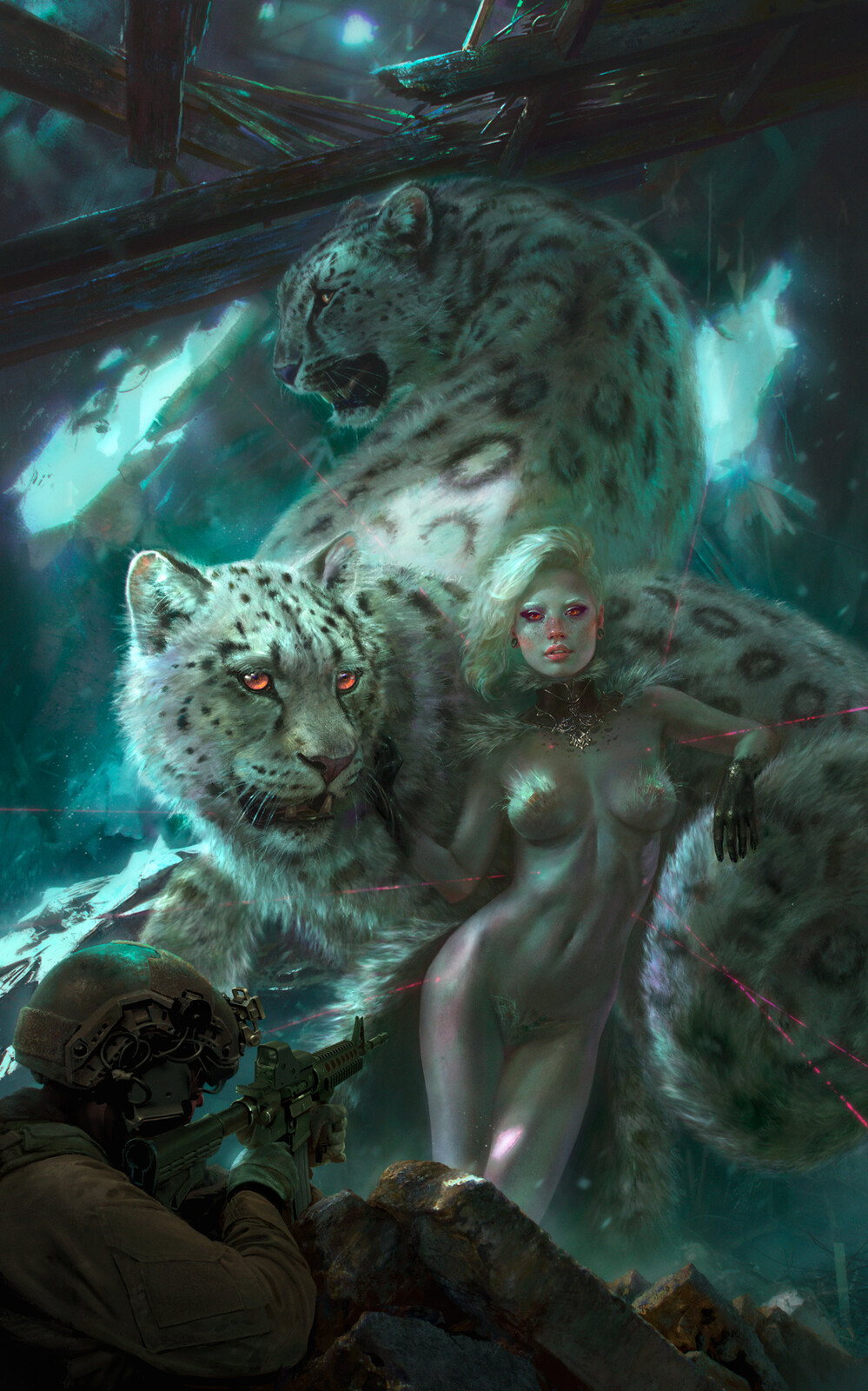 Snow Leopard Woman