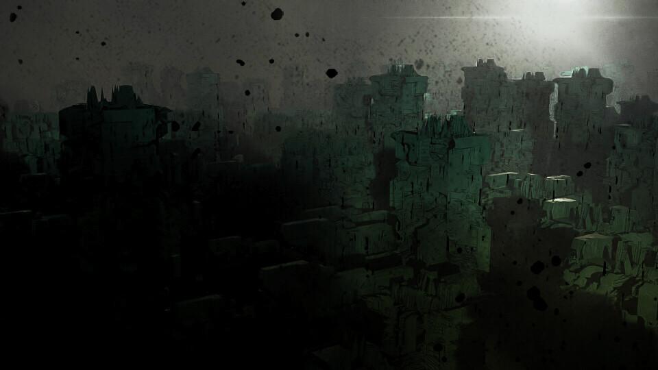 Fantasy ruined city