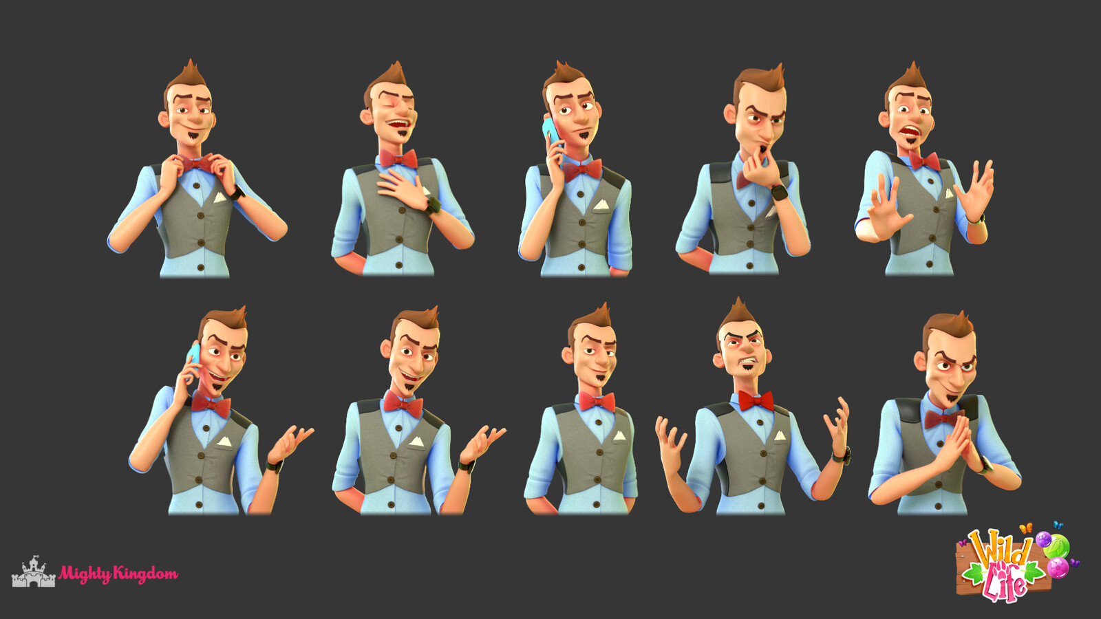 Dialogue renders of a character I made. It was really brought to life by our rigger Phoebe and animator Amy.