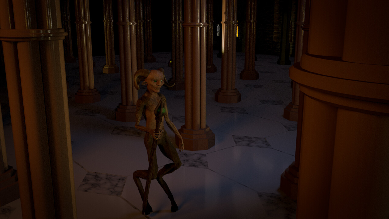 Animation still. Character rigged, animated & textured using Maya. All scene elements were created by myself.