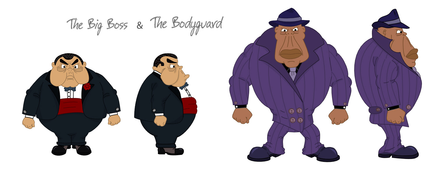 The Boss and The Bodyguard, character design